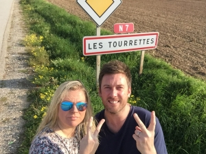 We found this town on our travels and risked life and limb to get this photo. The price we pay for comedy moments!