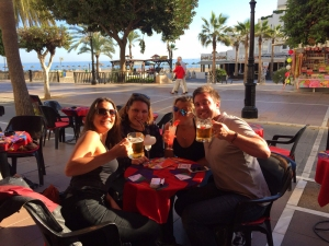 Louise and Kerrie join us in Marbella.
